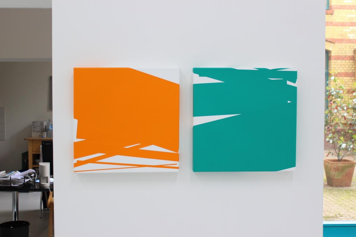 Vera Molnar, Chute de 7 rectangles, 2013