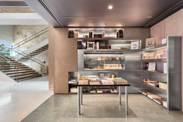 View of the new museum shop at The Bass, designed by Jonathan Caplan of Project Space, New York. Photography by Zachary Balber. Courtesy of The Bass, Miami Beach