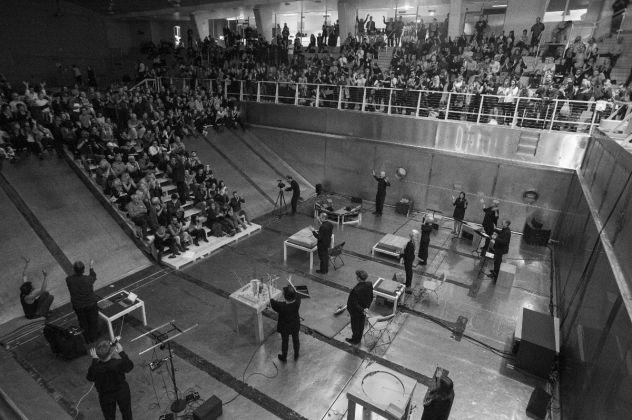 WITHIN Infinite Ear, opening concert, Bergen Assembly, Sentralbadet, Bergen, 2016. Photo Thor Brødreskif
