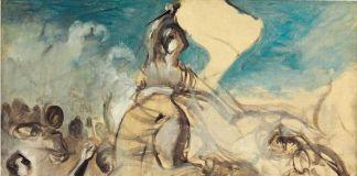 Il bozzetto de La Libertà guida il popolo di Eugène Delacroix