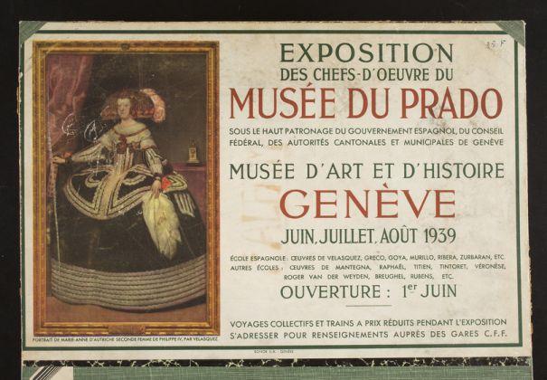 expo capolavori Prado 1939 Ginevra