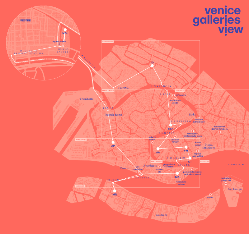La mappa delle gallerie