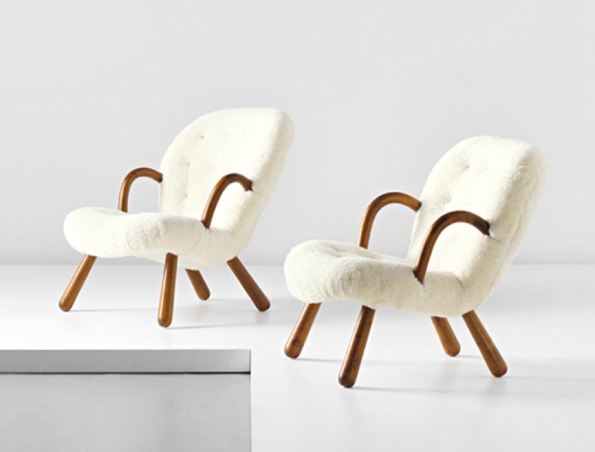 """""""Clam chairs"""" – Martin Olsen, vendute per 170.395 euro dalla casa d'aste Phillips nel 2013"""