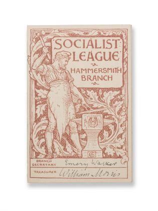 William Morris, Tarjeta de afiliado Soc. League