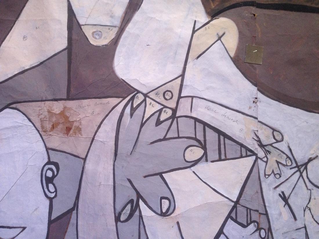 Il Cartone di Guernica a Palazzo Giustiniani a Roma - dettaglio dell'opera