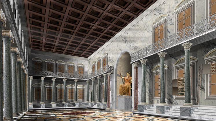 Interno della Biblioteca - ricostruzione