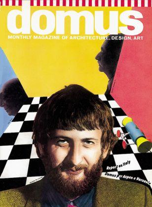 Michele De Lucchi sulla copertina di Domus; direttore Alessandro Mendini (numero 617, maggio 1981) Courtesy Editoriale Domus