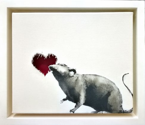 Banksy, Rat Heart, ph. Stephane Bisseuil