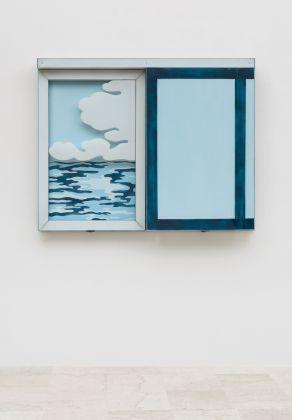 Laura Grisi, Seascape, 1966, acrilico su tela, plexiglas, pannelli scorrevoli:acrylic on canvas, plexiglas, sliding panels
