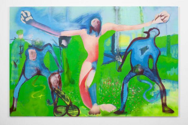 Alessandro Pessoli, Fiamma Polota - 2011. Oil, Enamel, Spraypaint on Canvas. 195x300cm.