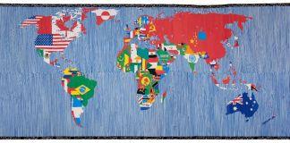 Alighiero Boetti, Mappa del mondo, 1988