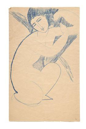 Amedeo Modigliani, Nudo accosciato. Villa Necchi Campiglio, Milano 2017 (c) FAI - Fondo Ambiente Italiano