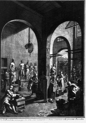 Bartolomeo Cavaceppi, La bottega di restauro di Bartolomeo Cavaceppi, Raccolta d'antiche statue, busti, bassorilievi, ed altre sculture ristaurate…, Roma 1768-72