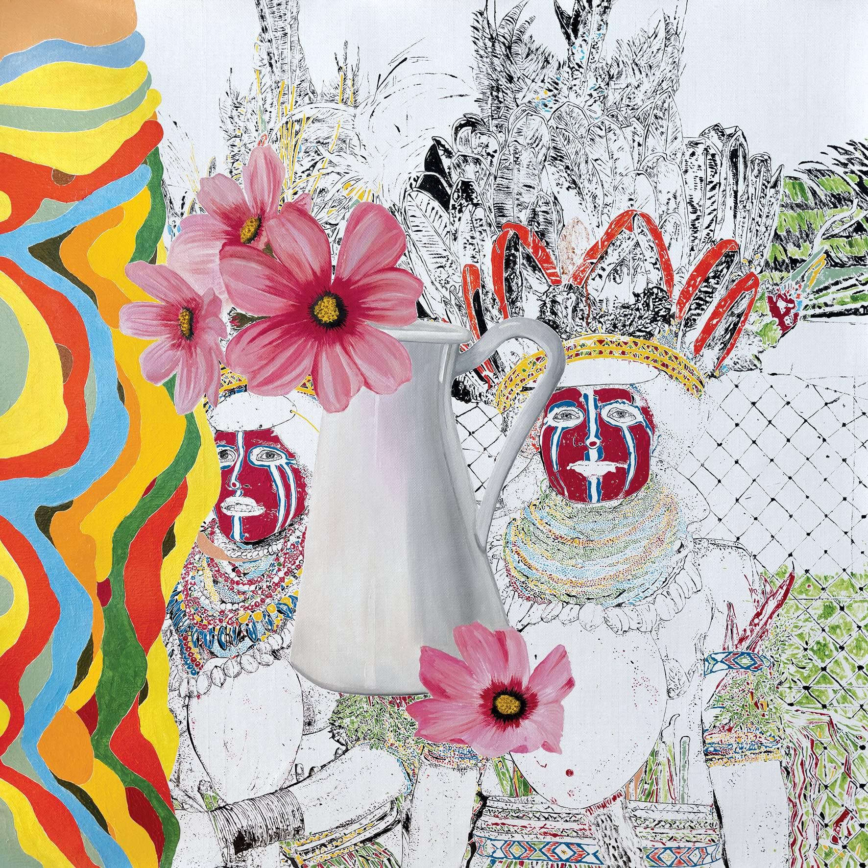 Maurizio Cannavacciuolo, As a fallen flower, 2016 olio su tela 90 x 90 cm