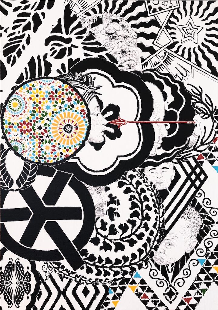 Maurizio Cannavacciuolo, Isla diez, 2014 olio su tela 100 x 70 cm