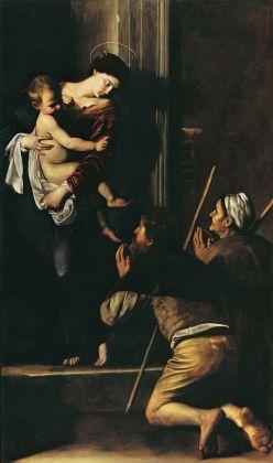 Caravaggio, La Madonna dei Pellegrini, 1604 1606, olio su tela. Roma, Basilica di Sant'Agostino in Campo Marzio