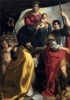 Carlo Bononi, La Vergine in trono con i santi Maurelio e Giorgio, 1604. Vienna, Kunsthistorisches Museum, Gemäldegalerie