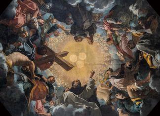 Carlo Bononi, Trinità adorata dai Santi, 1616-17. Ferrara, Chiesa di Santa Maria in Vado