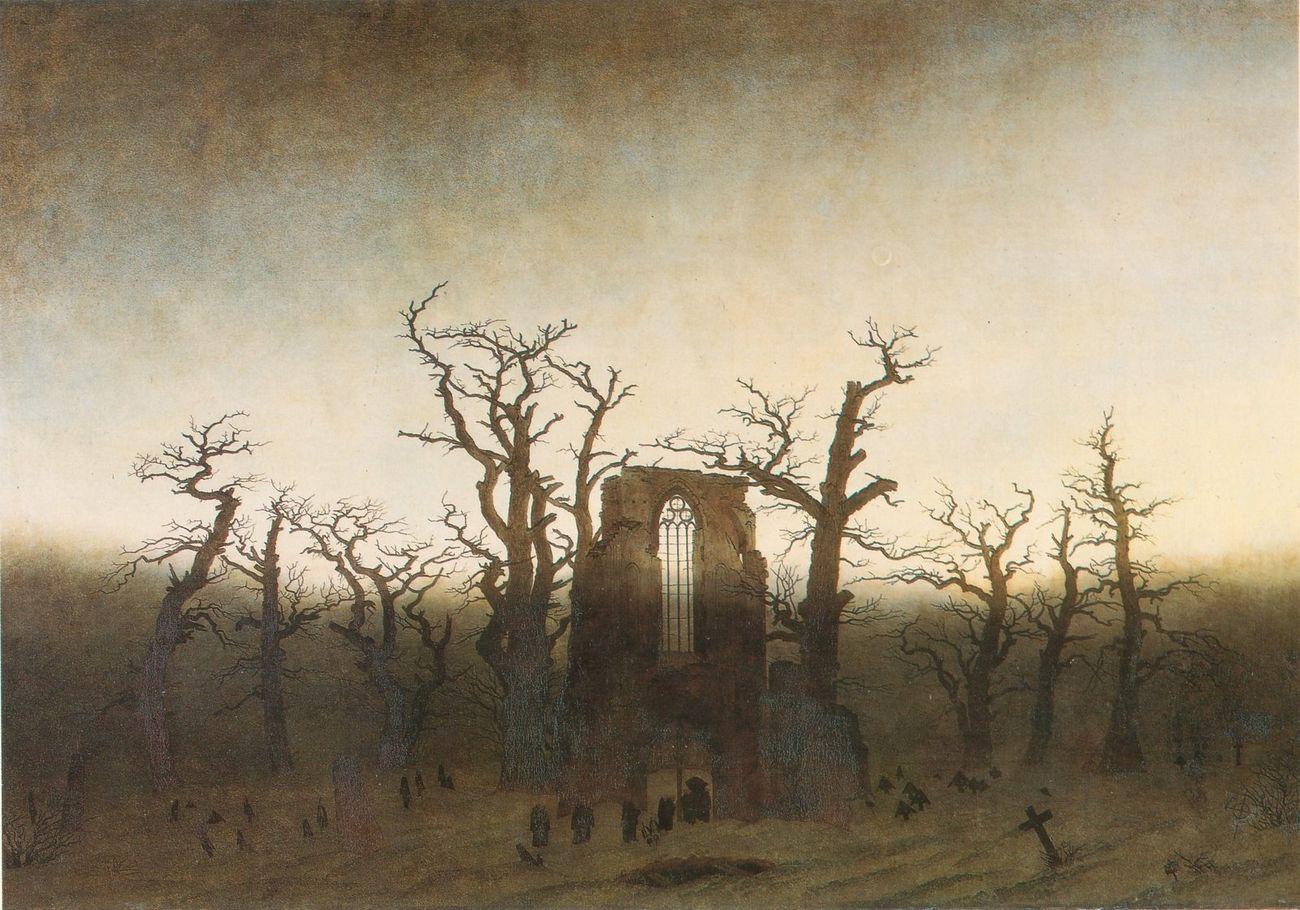 Casper David Friedrch, L'abbazia del querceto, 1810