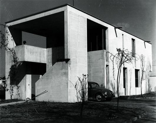 Cesare Leonardi con Franca Stagi, Casa Montanari e laboratorio, Modena, 1965-68. Photo Cesare Leonardi, AACL