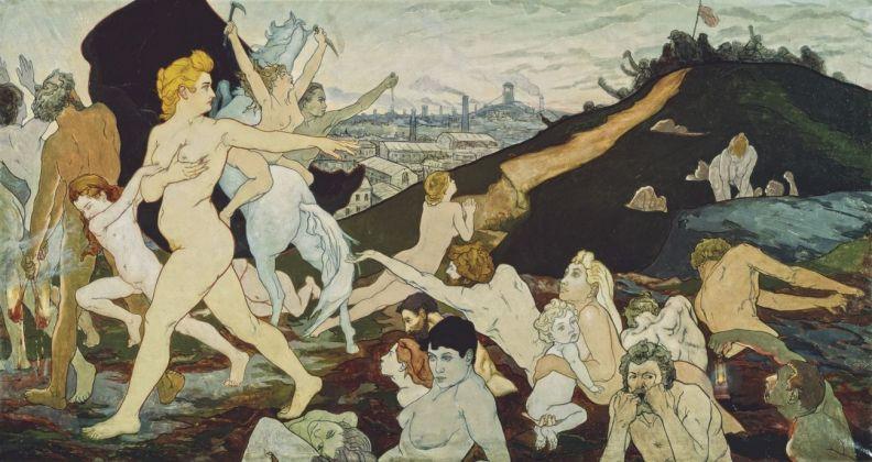 Charles Maurin, L'alba del Lavoro, ca. 1891, Musee d'art moderne et contemporain, Saint-Étienne Métropole, France, photo Yves Bresson