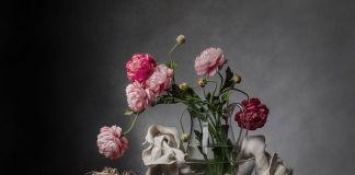 Christopher Broadbent, Glass Bowl & False Flowers, 2017