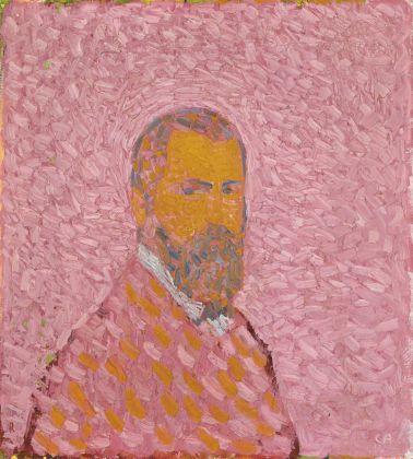 Cuno Amiet, Autoritratto in rosa, 1907. Collezione privata. (c) M.+D. Thalmann, Herzogenbuchsee. Photo credit SIK ISEA, Zurigo (Philipp Hitz)