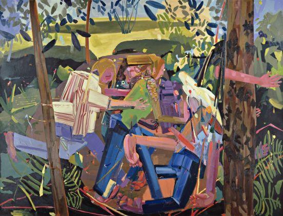 Dana Schutz, Run, 2003 2004, olio su tela, 213x290x6,5 cm