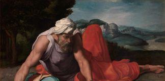 Daniele da Volterra, Il profeta Elia nel deserto 1550 ca., olio su tela. Collezione privata, courtesy Galleria Benappi