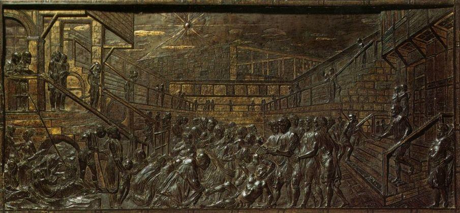 Donatello, Il miracolo del figlio pentito, 1449 ca.