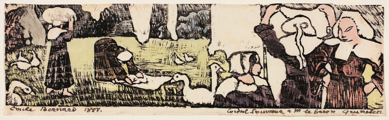 Emile Bernard, Scena bretone, 1888. Collezione privata