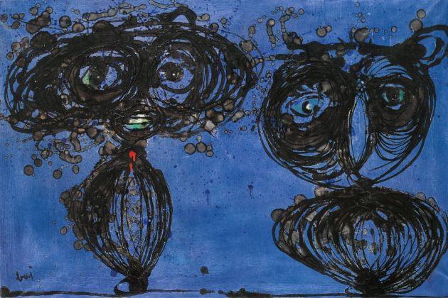Enrico Baj, Due personaggi notturni, 1952. Collezione privata, courtesy Fondazione Marconi