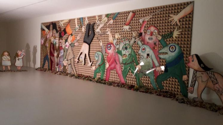 Enrico Baj. Exhibition view at Fondazione Marconi, Milano 2017
