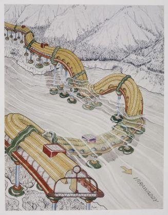 Ettore Sottsass Junior, Disegno per Il pianeta come festival, 1972 (riproduzione fotografica del 2004)