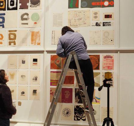 Ettore Sottsass. Oltre il Design. Allestimento della mostra allo CSAC – Centro Studi e Archivio della Comunicazione, Parma 2017