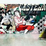Faile, Eastern Skies, 10 m x 3 m, courtesy Magda Danysz Gallery