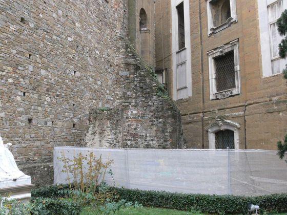 Veduta dell'area del cantiere del Museo delle Cappelle Medicee