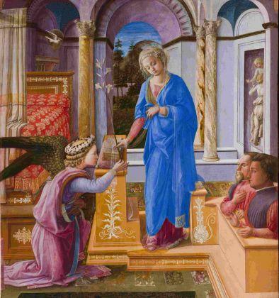Filippo Lippi, Annunciazione con donatori, 1440 ca. Roma, Galleria Nazionali di Arte Antica di Roma – Palazzo Barberini e Galleria Corsini