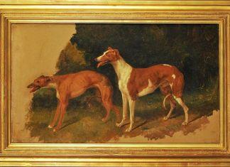Filippo Palizzi, Due cani levrieri razza inglese, 1851