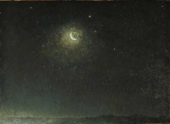 Filippo Palizzi, Luna mancante avanti l'alba, 1871