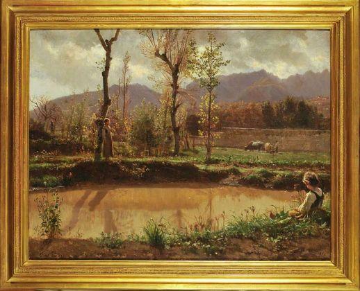 Filippo Palizzi, Paesaggio dopo la pioggia, 1864