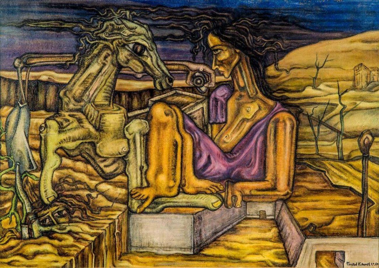 Fouad Kamel, Nude, 1950. Collection of Fatenn Mostafa Kanafani