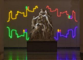 Francesco Candeloro, Linee del Tempo. Installation view at MANN – Museo Archeologico Nazionale, Napoli 2017. Photo Lorenzo Ceretta