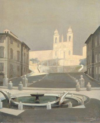 Francesco Trombadori, Trinità dei Monti, 1959. Collezione Donatella Trombadori, Roma