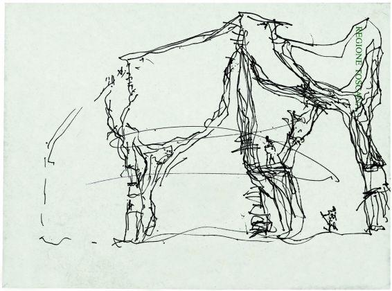 Giardino degli Incontri. Schizzo progettuale, 1987 © Archivio Fondazione Michelucci