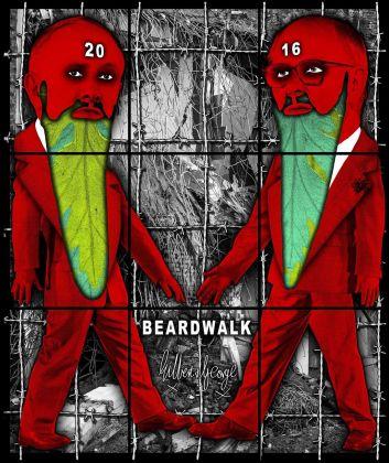 Gilbert & George, Beardwalk, 2016. Courtesy Galleria Alfonso Artiaco, Napoli