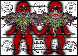 Gilbert & George, Mark of the Beard, 2016. Courtesy Galleria Alfonso Artiaco, Napoli