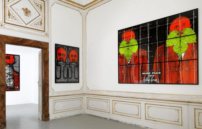 Gilbert & George. The Beard Pictures. Installation view at Galleria Alfonso Artiaco, Napoli 2017