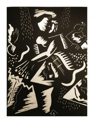 Gino Severini, Gravure Futuriste, 1939, xilografia, collezione eredi Severini