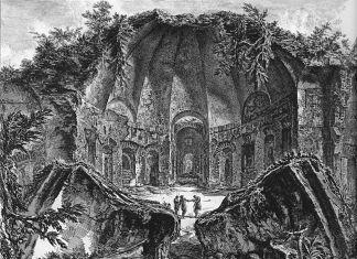 Giovan Battista Piranesi, Avanzi del Tempio di Canopo nella Villa Adriana, da Vedute di Roma, 1748-78